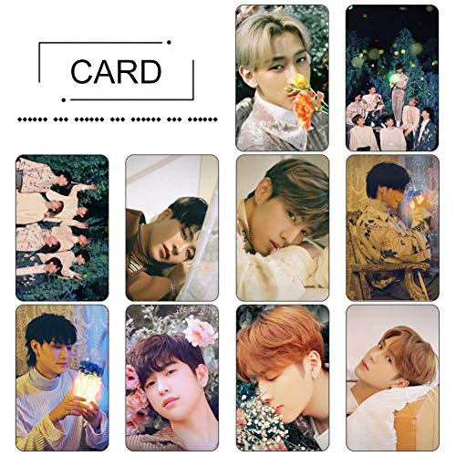 10 Unids/set K-pop GOT7 Nuevo Ablum Photocard Stikcy Tarjetas Estudiante Tarjeta de Cristal Pegatina Para los Fans Colección de regalos