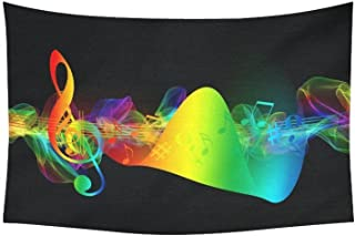 AnnHomeArt Wall Tapestry Hanging Music Note Tapestry Picnic Beach Sheet Table Cloth 60''x 40''