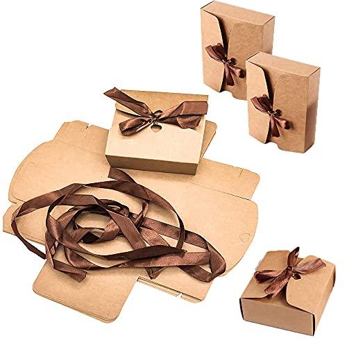 Caja de Papel Kraft, 20 Piezas Caja de Regalo Marrón, Caja de Regalo de...