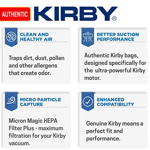 Kirby 204814 Micron Magic HEPA Filter Plus Bags, 6, White