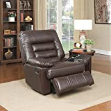 Serta Big & Tall Memory Foam Massage Recliner, (Dark Brown)