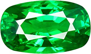1.32 ct GIL CERTIFIED CUSHION CUT (8 x 5 mm) UNHEATED/UNTREATED TSAVORITE GREEN GARNET LOOSE GEMSTONE