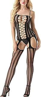 Womens Lace Sexy Lingerie Fishnet Stocking Bodysuit Babydoll Thongs Temptation Underwear Ladies G-String Sleepwear