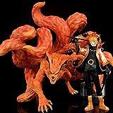 2Pcs / Set Anime Naruto Kyuubi Gk Estatua Naruto Y Kurama PVC Colección Modelo Figura Juguetes 21-31...