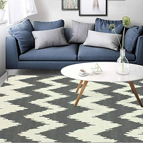 Vlejoy Moderne großflächige Teppich Teppich Home Office geometrische graue Welle Mädchen Schlafzimmer Junge Schreibtisch Matte-80 * 120cm