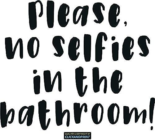 CLICKANDPRINT Aufkleber  lease, no selfies in the bathroom , 90x76,0cm, Carbon 3M DiNoc Schwarzmatt  ekoaufkleber   Autoaufkleber   Stücker   Decal   Vinyl