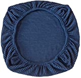 Yikko Elastic Stretch Spandex Chair Seat Covers Slipcovers Washable fit for Office Chairs,Dining Room Chairs,Bar Wedding Party Decor (Dark Blue)