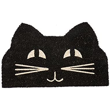 Entryways Cat Face Non- Slip Coconut Fiber Doormat 17  X 28  X .5