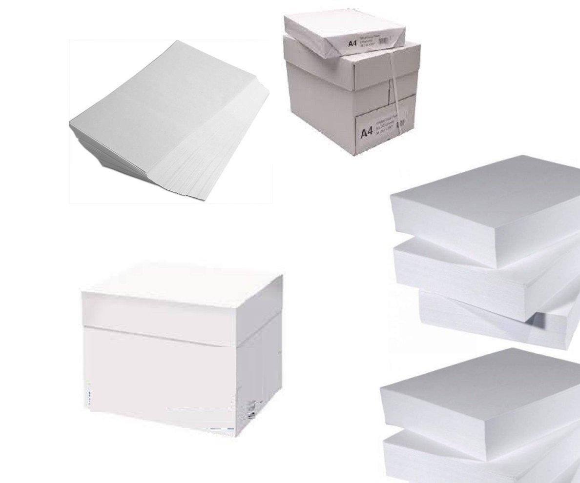 Pack de 5 resmas Paquete 500 hojas papel A4 blanca para impresoras 100g White Paper 80 gramos – Paquete 500 hojas: Amazon.es: Oficina y papelería
