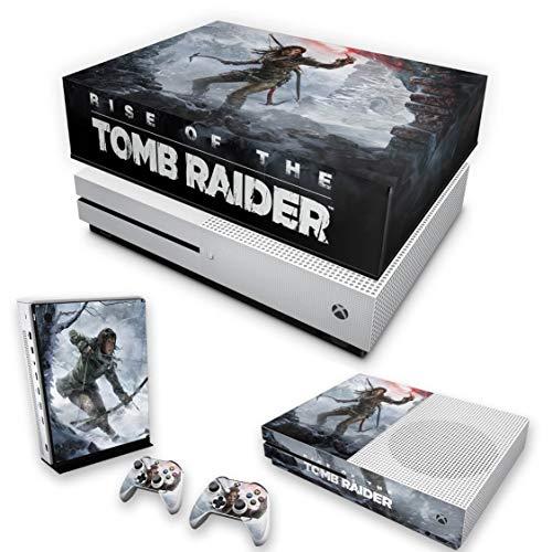 Capa Anti Poeira e Skin para Xbox One S Slim - Rise Of The Tomb Raider