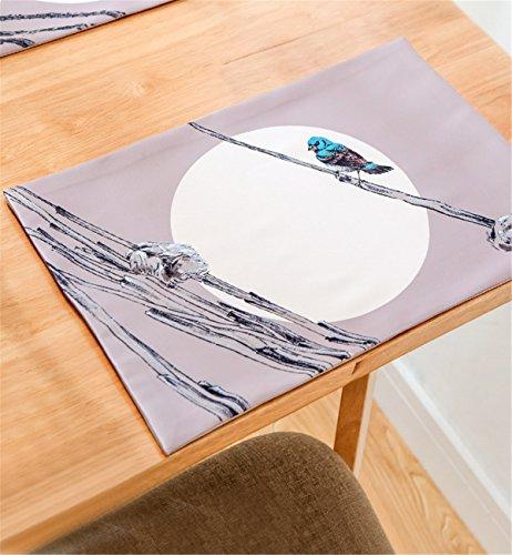 Sucastle® 1XPlacemat-30X45cm tissu Chemin de Table Cuisine Imperméable Décoration en Aspect naturel