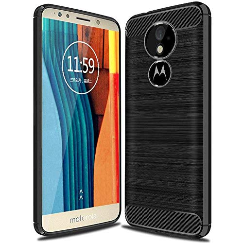 United Case Cáscara De Luz para Motorola Moto G6 Play | Negro Silicone TPU Shockproof For