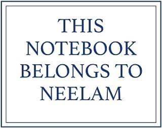 This Notebook Belongs to Neelam