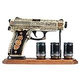 Warrior's Decanters_DECANTER for vodka whiskey brandy alcohol Bottle like GUN PISTOL, MILITARY GIFT