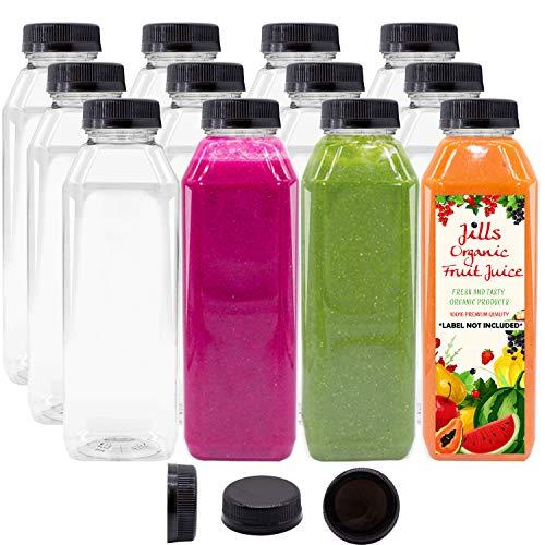 Plastic Juice Bottles - Pack of 12
