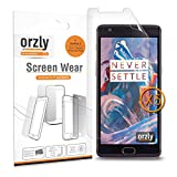 Orzly - Multi-Pack de 5 Protectores de Pantalla para OnePlus 3 SmartPhone (2016 Version / Dual SIM Modelo Teléfono Móvil) - 5 in 1 Screen Protector Pack - 100% TRANSPARENTE