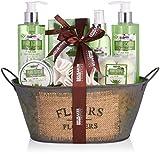 BRUBAKER Cosmetics Bade- und Dusch Set Aloe Vera - 11-teiliges Geschenkset in Vintage Wanne