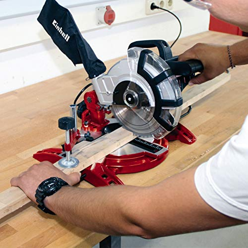 Einhell TC-SM 2131 240 V Double Bevel Crosscut Mitre Saw with Laser, Red