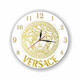 dudkaair Versace 11'' Handmade Wall Clock - Get Unique décor for Home or Office – Best Gift Ideas for Kids, Friends, Parents and Your Soul Mates
