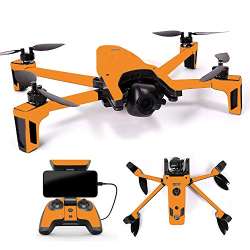 MightySkins Skin Compatible with Parrot Anafi Drone - Solid Orange | Protective, Durable, and Unique Vinyl Decal wrap Cover | Easy to Apply, Remove, and Change Styles | Made in The USA