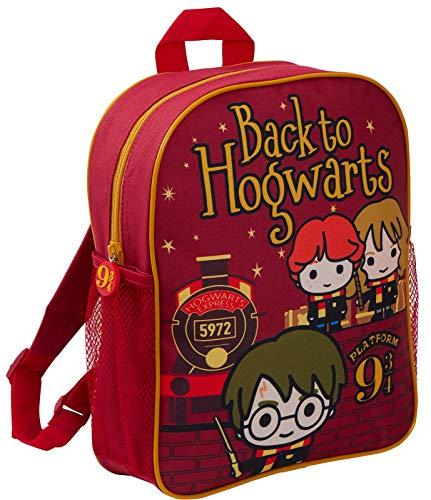 HARRY POTTER Zaino di cartone animato di Hogwarts (affascinante borsa di scuola) per bambino Taglia unica Torna a Hogwarts