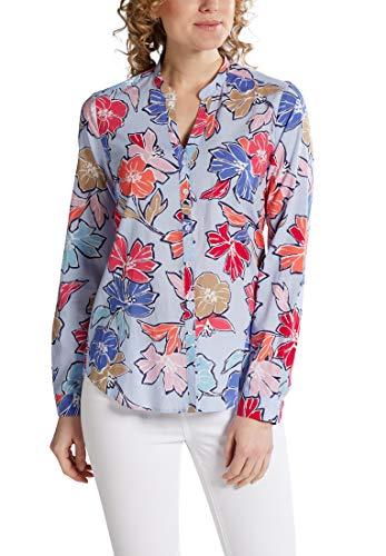 eterna blouse met lange mouwen modern klassiek bedrukt