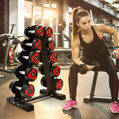 Akyen A-Frame Dumbbell Rack Stand Only-5 Tier Weight Rack for Dumbbells (570 Pounds Weight Capacity, 2020 Version) 4