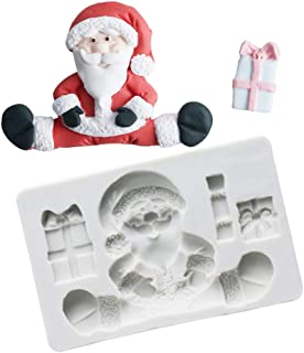 Joinor 3D Christmas Santa Claus Silicone Fondant Molds Chocolate Gumpaste Fondant Cake Decorating Tools