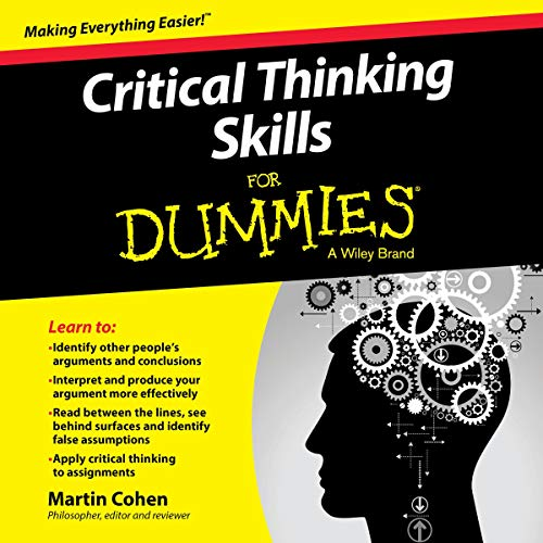 Critical Thinking Skills for Dummies audiobook cover art