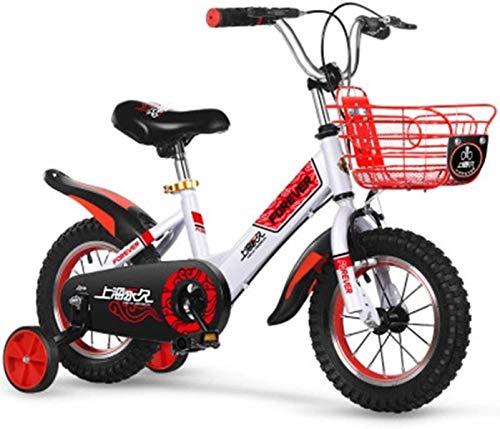 ZSY Bicicletas Bicicletas para niños, Bicicleta para niños 2 a 9 años Niño y niña Bicicleta Bicicleta para niños Bicicleta para niños Bicicleta (Color: Rojo, Tamaño: 16in) (Color : Red, Size : 16in)