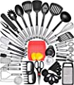 Kitchen Utensil Set Cooking Utensils Set - Nylon Kitchen Utensils Set Kitchen Tool Set 44 Pcs. Cooking Utensil Set Kitchen Set Spatula Set Kitchen Gadgets Kitchen Tools Kitchen Accessories Cooking Set by Home Hero