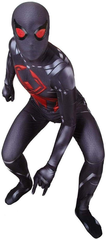 nueva gama alta exclusiva ASJUNQ ASJUNQ ASJUNQ Traje Negro De CosJugar De Spiderman Traje Disfraz Juego De rol Ropa Ropa Body,negro-S  Compra calidad 100% autentica