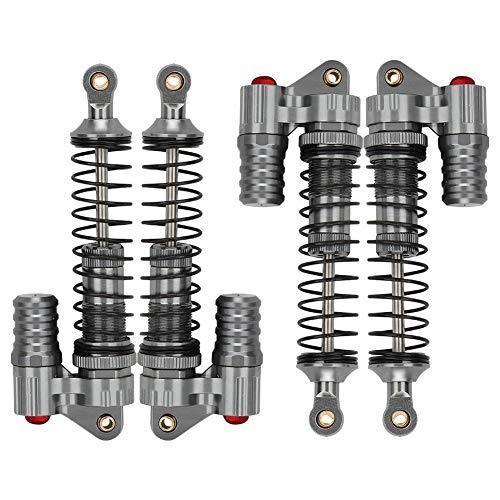Drfeify RC Auto Stoßdämpfer, 4 Stücke Anti-Schock Leichtgewichts Hydraulischer Metall Dämpfer (Titanium)