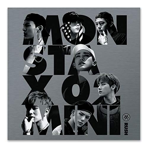 MONSTA X 2nd Mini Album - RUSH [ OFFICIAL ver. ] CD + Booklet + Photocard + FREE GIFT / K-pop Sealed