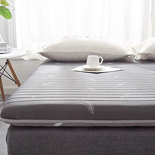 ZFDM Lattice Spesso Materasso Pad, Tatami Tappetino in Lattice Pieghevole Piano Materasso Dormire 120x190cm Mat futon Giapponese Tatami Materasso Grigio (47x75inch)