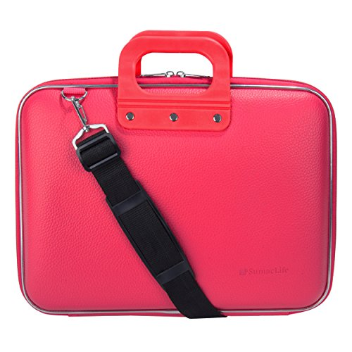 SumacLife Cady Magenta Pink Messenger Bag Carrying Case for Lenovo Flex / IdeaPad / ThinkPad / Yoga 13' to 14inch