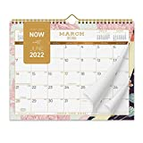 2021-2022 Calendar - Academic Year Wall Monthly Calendar - 16-month Floral Calendar from March 2021 to June 2022, 11 x 8.75 Inches, Uncoated Non-Glossy Paper with Back Support to Keep It Flat