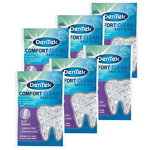 Dentek Comfort Clean Zahnseide Picks hinteren Zähne, 6Stück, insgesamt 360