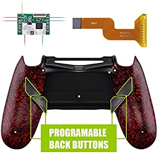 eXtremeRate Dawn Programable Remap Kit for PS4 Controller with Mod Chip & Redesigned Back Shell & 4 Back Buttons - Compatible with JDM 040/050/055 - Textured Red