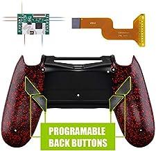 eXtremeRate Dawn Programable Remap Kit PS4 Scuf Reasignación de Botones para Playstaion 4 con Mod Chip&Carcasa Trasera&4 Botones Traseros Compatible con PS4 JDM 040/050/055(Salpicaduras Rojas)
