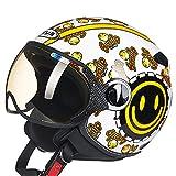 Jyuha Motocicleta de Motocross el Casco Adulto de la Cara Llena de MTB Casco Conjunto, Choque Casco de la Moto para el Descenso Off Road Quad Equipo de Protección (57-58cm)