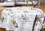 BEAUTEX Provence Wachstuchtischdecke geprägt abwischbar Garten Tischdecke RUND OVAL ECKIG, Größe wählbar (Eckig 140x100 cm) - 3