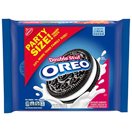 OREO Double Stuf Chocolate Sandwich Cookies, Party Size, 26.7 oz