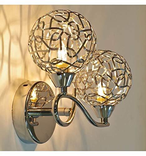KOSILUM - Applique murale design double Aphyse - Lumière Blanc Chaud Eclairage Salon Chambre Cuisine Couloir - 2 x 25W - - G9 - IP20