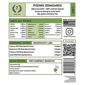 PROMIX Premium Vegan Protein + B12, Organic Complete Protein Plant Based Blend, Gluten-Free, Soy Free, 5lb Bulk #4
