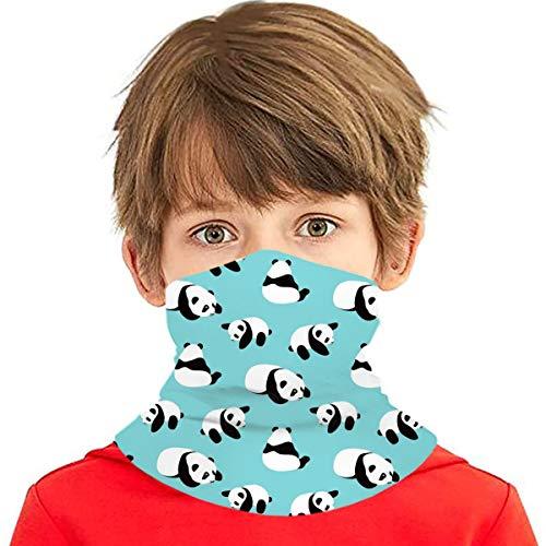 Cute Panda Kids Neck Gaiter Bandana Uv Protection Face Scarf Mask Anti Dust Balaclava Cover Summer Headband For Outdoor Hiking Cycling