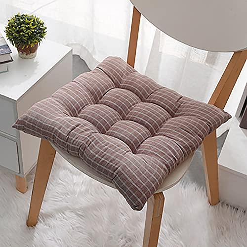 YANJ Chair Cushion Japanese-Style Lattice Chair Cushion Thickened Office Student Chair Cushion Tatami Seat Cushion Stool Cushion
