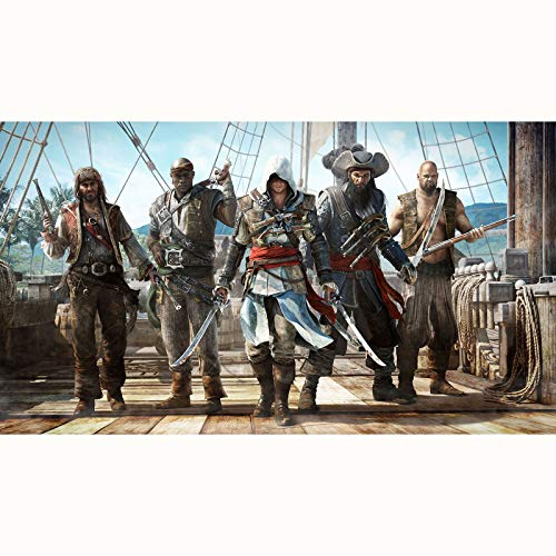 FENGZI Assassin'S Creed IV: Black Flag Jigsaw Puzzles Edward 5 Hombres Pirate Ship Puzzle 300/500/1000/1500 Pieza (Size : 1500Pieces)