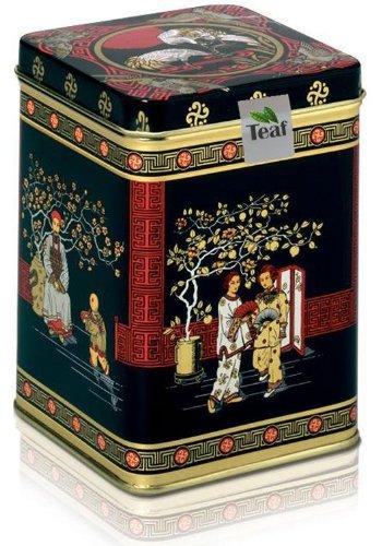 OSTFRIESISCHE BLATTMISCHUNG - schwarzer Tee - in einer Black Jap Dose eckig (Teedose) - 88x88x122mm (200g)
