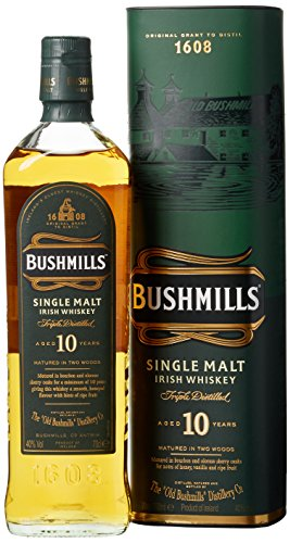 Bushmills Single Malt Irish Whiskey 10 Jahre (1 x 0.7 l)